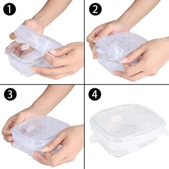 Reusable Silicone Lids (Set of 6)