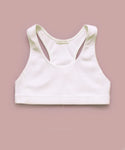Ribbed Racerback Crop Top (White)