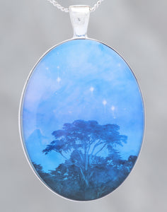 Trees Dreaming - Beautiful glow-in-the-dark Astronomy Pendant from the Carina Nebula