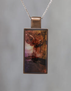 Dancing in Smoke - Galaxy Pendant made with a photo of Smoke and the Carina Nebula!