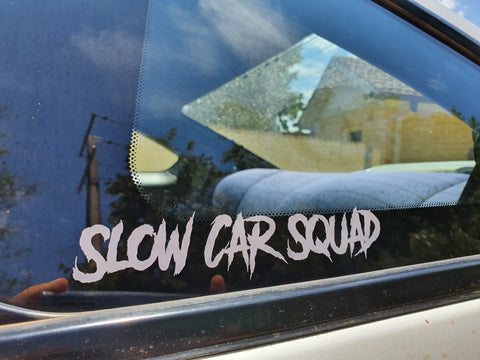 Slow Car Squad Sticker