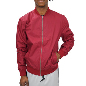 COATED COTTON BOMBER UNISEX - BURGUNDY - FXN menswear