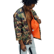 Load image into Gallery viewer, CAMO KIMONO BOMBER JACKET - UNISEX - FXN menswear