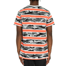 Load image into Gallery viewer, CAMO STACK RUGBY TEE - ORANGE/GREY/WHITE - FXN menswear