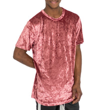 Load image into Gallery viewer, CRUSHED VELOUR TEE DUSTY ROSE - UNISEX - FXN menswear