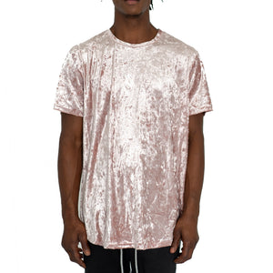CRUSHED VELOUR TEE CHAMPAGNE - UNISEX - FXN menswear