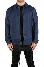 Load image into Gallery viewer, HEAVY TWILL COACH'S JACKET - CHAMBRAY DENIM - FXN menswear