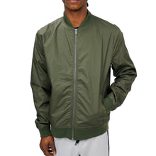 Load image into Gallery viewer, COATED COTTON BOMBER UNISEX - OLIVE - FXN menswear
