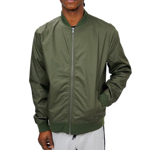 COATED COTTON BOMBER UNISEX - OLIVE - FXN menswear