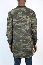 Load image into Gallery viewer, DISTRESSED TRENCH BOMBER COAT - CAMO - FXN menswear