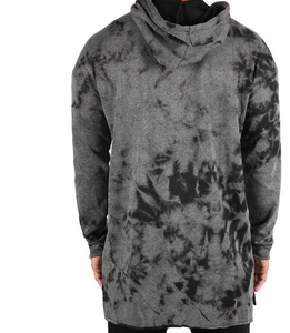 RAW EDGE LONG MARBLED HOODIE - FXN menswear