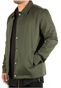 HEAVY TWILL COACH'S JACKET - OLIVE GREEN - FXN menswear