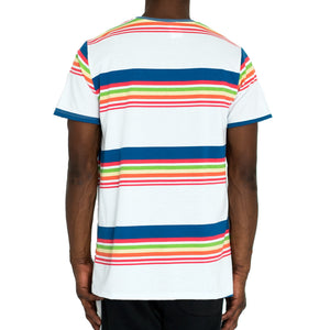 """SCHOOL STRIPES"" KNIT TEE - WHITE - FXN menswear"