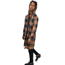 Load image into Gallery viewer, PLAID FLANNEL SWEATER COAT - FXN menswear