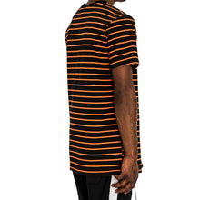 Load image into Gallery viewer, NARROW STRIPE BOX T - BLACK/ORANGE - FXN menswear