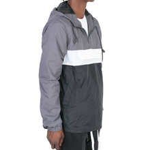 Load image into Gallery viewer, ANORAK WINDBREAKER - GREY/BLACK/WHITE - FXN menswear