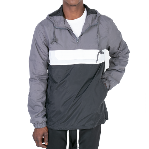 ANORAK WINDBREAKER - GREY/BLACK/WHITE - FXN menswear