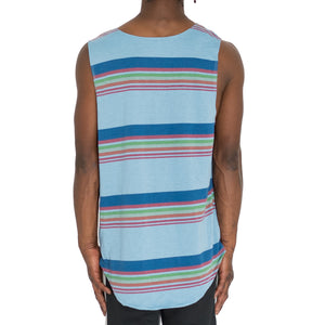 """SCHOOL STRIPES"" MUSCLE TANK - BLUE - FXN menswear"