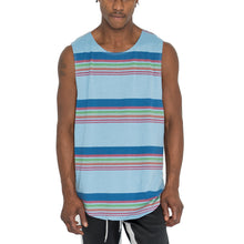 "Load image into Gallery viewer, ""SCHOOL STRIPES"" MUSCLE TANK - BLUE - FXN menswear"