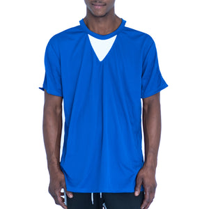 QUICK-DRY ATHLETIC TEE - ROYAL BLUE/WHITE - FXN menswear