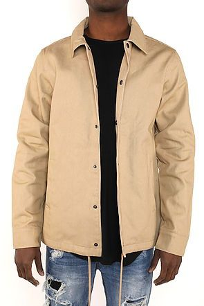 HEAVY TWILL COACH'S JACKET - TAN - FXN menswear