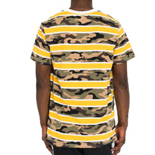 Load image into Gallery viewer, CAMO STACK RUGBY TEE - YELLOW/OLIVE/BLACK - FXN menswear