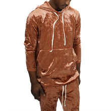 Load image into Gallery viewer, CRUSHED VELOUR SLIM JOGGER SET - COPPER - FXN menswear