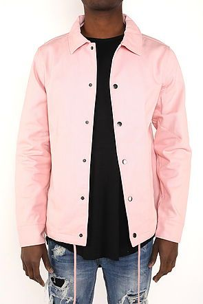 HEAVY TWILL COACH'S JACKET - DUSTY ROSE - FXN menswear