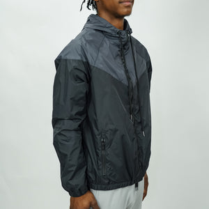 COLORBLOCK WINDBREAKER - GUNMETAL/BLACK - FXN menswear