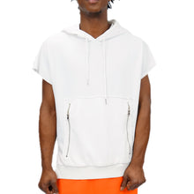 Load image into Gallery viewer, DOLMAN SLEEVELESS HOODIE - WHITE - FXN menswear