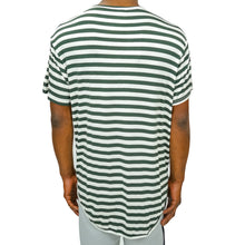 Load image into Gallery viewer, FINE KNIT STRIPED TEE - GREEN - FXN menswear