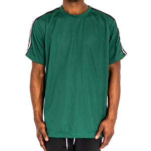 SHOULDER TAPE QUICK-DRY TEE - GREEN - FXN menswear