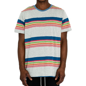 """SCHOOL STRIPES"" KNIT TEE - GREY - FXN menswear"