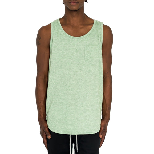 FINE KNIT MUSCLE TANK - GREEN - FXN menswear