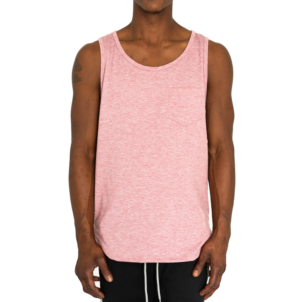 FINE KNIT MUSCLE TANK - DUSTY ROSE - FXN menswear