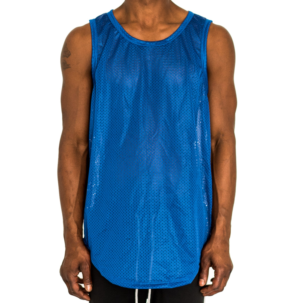 BIRDSEYE MESH MUSCLE TANK - ROYAL BLUE - FXN menswear