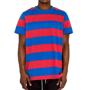 RUGBY BOXY KNIT TEE - RED/BLUE - FXN menswear