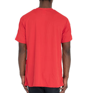 QUICK-DRY ATHLETIC TEE - RED/WHITE - FXN menswear