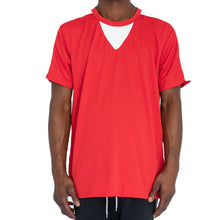 Load image into Gallery viewer, QUICK-DRY ATHLETIC TEE - RED/WHITE - FXN menswear
