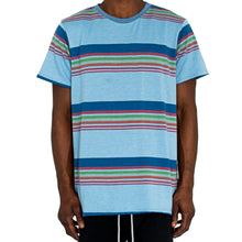 "Load image into Gallery viewer, ""SCHOOL STRIPES"" KNIT TEE - BLUE - FXN menswear"
