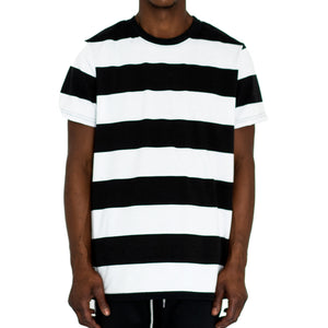 RUGBY BOXY KNIT TEE - BLACK/WHITE - FXN menswear