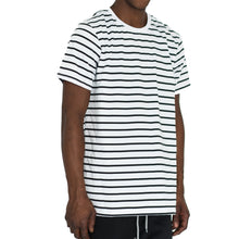 Load image into Gallery viewer, NARROW STRIPE BOX T - WHITE/BLACK - FXN menswear