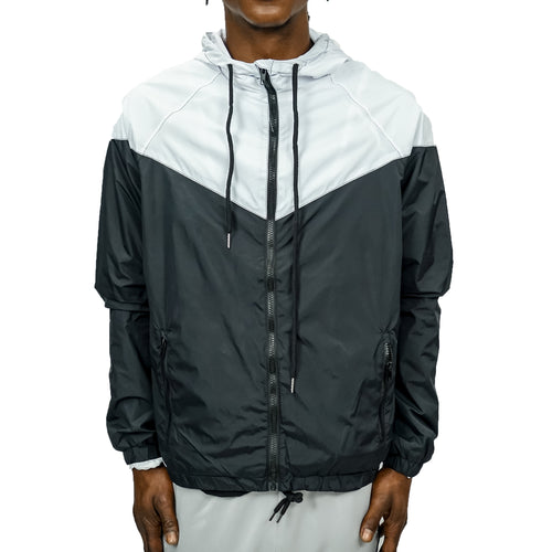 COLORBLOCK WINDBREAKER - WHITE/BLACK - FXN menswear