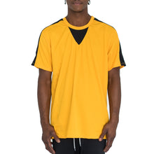 Load image into Gallery viewer, QUICK-DRY ATHLETIC TEE - YELLOW/BLACK - FXN menswear