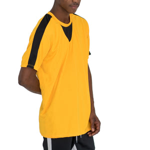 QUICK-DRY ATHLETIC TEE - YELLOW/BLACK - FXN menswear