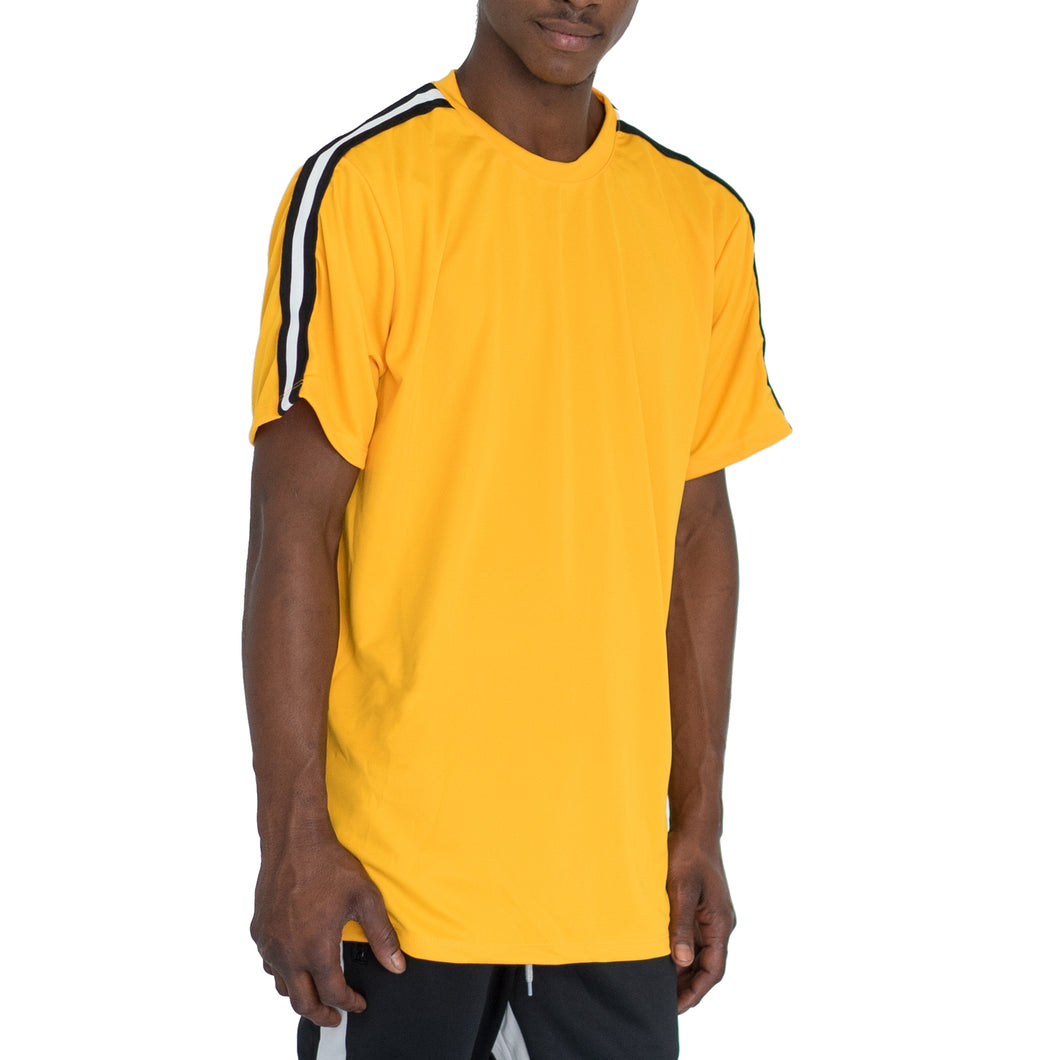 SHOULDER TAPE QUICK-DRY TEE - YELLOW - FXN menswear