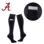 University of Alabama Miss Zippy Zip Pocket Knee High in Solid Black