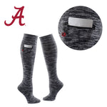 University of Alabama Miss Zippy Zip Pocket Knee High in Charcoal/Black Random Knit