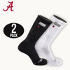 University of Alabama Stash & Dash Zip Pocket Performance Crew Socks - 2 Pair Pack