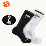 Clemson University Tigers Stash & Dash Zip Pocket Performance Crew Socks - 2 Pair Pack
